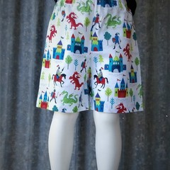 """""""Dragons & Knights""""-Kids Novelty Shorts-(Size: 1; 3; 4 only)"""