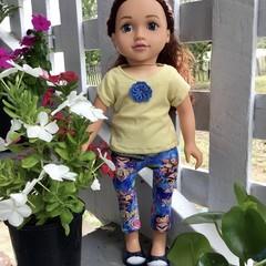 Dolls Clothes Leggings/TShirt Blue 45cm/18inch doll
