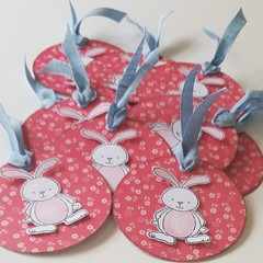 Easter Bunny Round Gift Tags - 3 pack