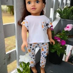 Dolls Clothes Leggings/TShirt Star 45cm/18inch doll