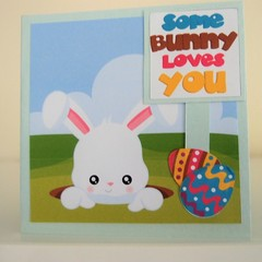 Happy Easter Card Handmade Easter Card -  Some Bunny Loves You