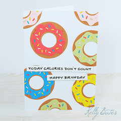 Calories Don't Count, Unisex Birthday Card, Donuts Card