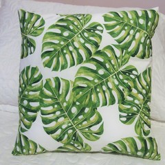 Decorator Cushion 100% Cotton - Tropical Cushions Monstera Leaves