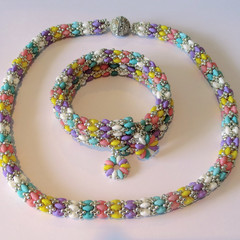 Necklace and Bracelet in Pretty Gelato Colours