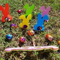 Easter eggs  bunny holders, Easter hunt,  Place cards