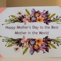 Mother's Day Card - Handmade Card - Floral Border Card - Happy Mother's Day