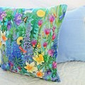 Decorator Cushion 100% Cotton - Garden Cushions Daffodils