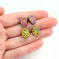 Easter studs - Bunny paws and Easter eggs