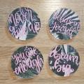 Acrylic coasters set of 4