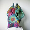 Felted Scarf Wool Silk Nuno Felt Wrap Shawl