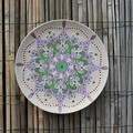 Decorative plate wall hangings , Hand painted spring pastel mandala