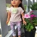Dolls Clothes Leggings/TShirt Pink 45cm/18inch doll