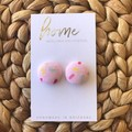 Recycled Pink Heart Stud Earrings| Mother's Day | Ecofriendly