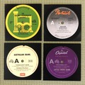Aussie Bands Set of 4 coasters