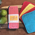 2 pack - 100% cotton crochet dishcloth - Eco friendly, Reusable, Compostable.