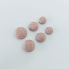 Dusty Pink Stud Earrings - 3 sizes