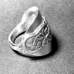 1930 Reposse Sterling Spoon Ring