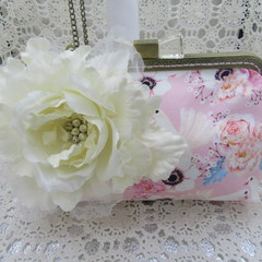 Ladies Clutch - Evening, Day, Wedding, Race Day, Garden Party - Romantic Doves