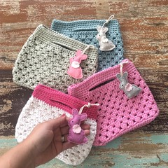 Crochet bag, free bunny of your choice