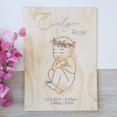 Personalised Pine Birth Poster ~ More Designs Available
