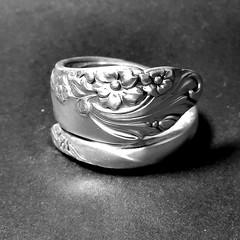 1950 Evening Star Spoon Ring