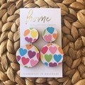 Rainbow Multi Colour Heart Dangles| Mother's Day | Unique | Gift for women |