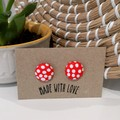 Red Polka Dot Studs