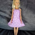 Barbie doll dress light purple with white stars