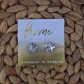 Chunky Silver Glitter Star Stud Earrings| Mother's Day | Unique | Gift for her |