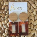 Bamboo and Tortoiseshell Dangles| Mother's Day | Unique | Gift for women  |