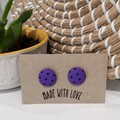 Purple Polka Dot Studs