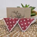 Triangle Polkadot Dangle Earrings