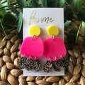 Recycled Silver Gold Pink Black Yellow Jellyfish Glitter Dangles | Ethical