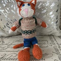 Natasha's Knitted Cat