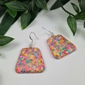 Confetti Pebble Dangle earrings - Handcrafted dangle earrings - Lge