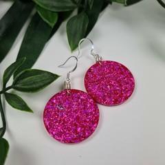 Dolly Hot Pink Dangle earrings - Handcrafted dangle earrings