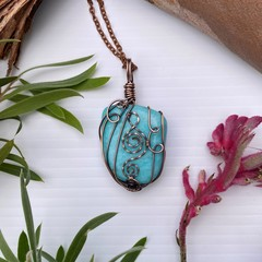 Amazonite Goddess Pendant