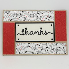 Thank You Card - Four Panel, music themed