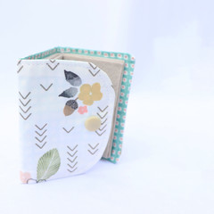Cotton and Felt 6 Page Needle Book - White Geo Floral