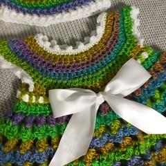 Newborn dress and hat set