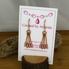 "Rose Gold ""Stacked"" Earrings"