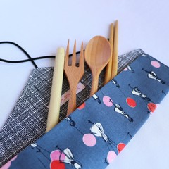 Reusable Cutlery Roll With Or Without Bamboo Cutlery | Balloons