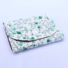 Cotton and Felt 6 Page Needle Book - Floral in Jade