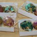 Gemstone soap x2 set / Green and Amethyst