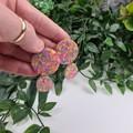 Confetti Drop Circle - Glittering Drop Resin - earrings