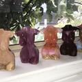 Chose 1 Handmade Gemstone Resin Female Torso Sculpture