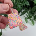 Confetti Pebble Dangle earrings - Handcrafted dangle earrings - Lge
