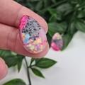 Dream Galazy Teardrop (small) Stud earrings - Handcrafted earrings