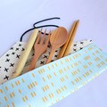 Reusable Cutlery Roll With Or Without Bamboo Cutlery | Duck Egg