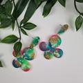 Emerald City Glitter Resin - MEGA Dangle earrings